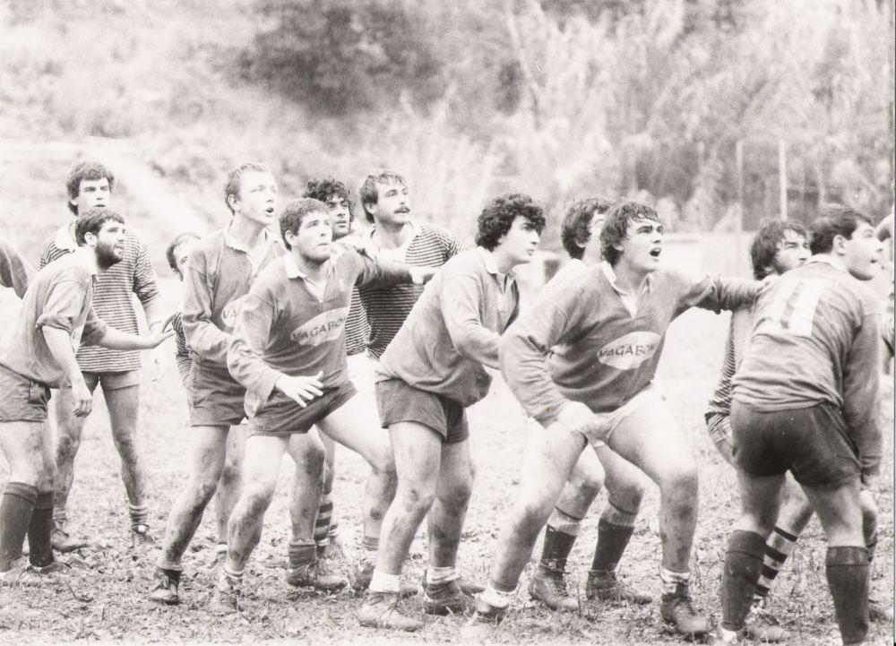 Squadra del Cogoleto in azione, fine anni 70. Dal sito rugbycogoleto.it