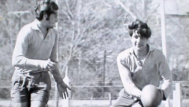 Otilio Pascua (assassinato) e Raul Barandiaran (il sopravvissuto, quello con il pallone)