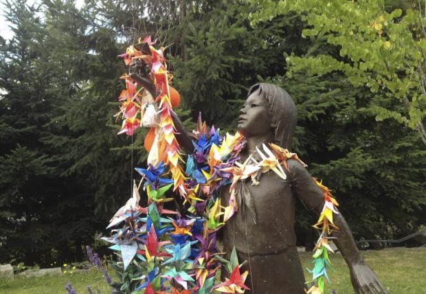 Statua rappresentante Sadako Sasaki