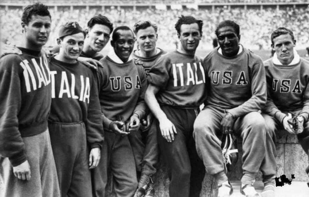 Le staffette USA e Italia 4x100 alle olimpiadi del 1936
